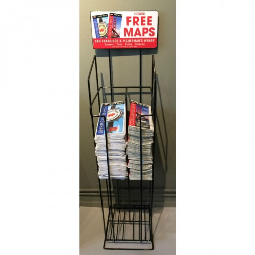 Black wire Map display rack