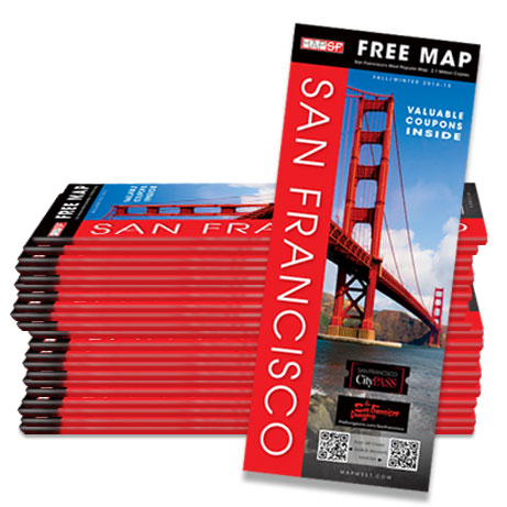 MapSF Map San Francisco Visitor Guide and Map