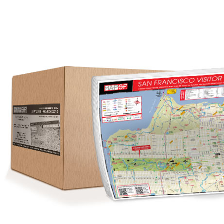 Case of MapSF Padded Map 7 Pads Per Case Free San Francisco Maps