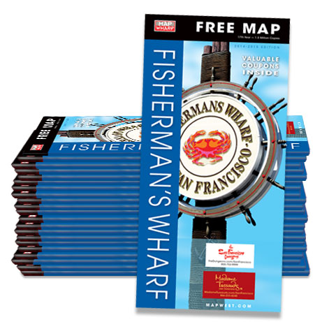 MapWharf San Francisco Fishermans Wharf Map